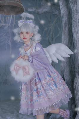taobao agent 【Dear dolls】L878 original lolita velvet doll machine gradient light sweet op dress