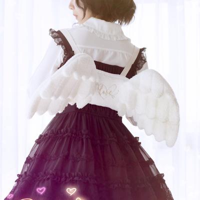 taobao agent Japanese sweet lolita girl jk angel wings backpack lolita accessories soft sister fairy white backpack