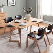 Bắc âu bản ghi đơn giản bàn ăn hiện đại phong cách Nhật Bản rắn bàn ăn gỗ và ghế kết hợp sồi trắng nhà hàng một bảng bốn ghế 叁