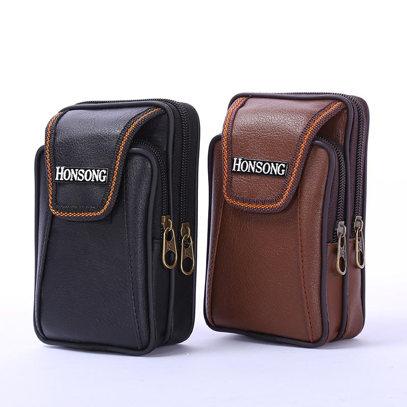 Nam túi vành đai túi mới đa chức năng ví mùa hè túi điện thoại di động người đàn ông trung niên của dọc túi điện thoại di động