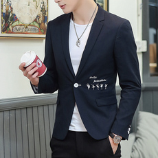 103x#2017秋冬新款男士青少年小西服 韩版修身休闲西装外套