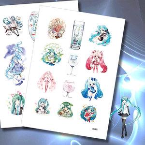 Hatsune Miku nhãn dán phim hoạt hình anime tay tài khoản tài liệu dán hành lý dán máy tính xách tay V nhà xung quanh vocaloid