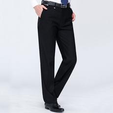 秋冬加厚款西裤男士宽松商务休闲中老年爸爸装免烫正装长裤子C902