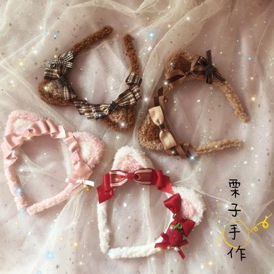taobao agent Original homemade hand-made Lolita element cat ear headband daily soft girl Lolita kc hair accessories