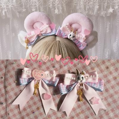 taobao agent Original homemade Lolita element claw headband soft girl sweet Lolita style hairpin KC