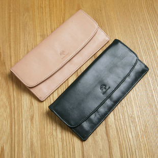 C&F оригинал женский воловья кожа длинная модель бумажник женщина сцепление пакет натуральная кожа тонкий билет клип больше карта позиции долго бумажник c204