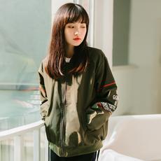 实拍现货  2019春季新品韩版新款宽松学院风百搭BF棒球服外套女