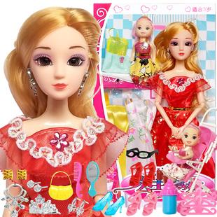 芭比娃娃女孩公主大禮盒兒童玩具洋娃娃套裝