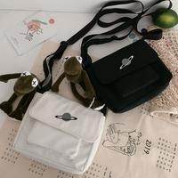 Небольшой пакет пакет Женский 2020 новая коллекция Tide Messenger один Плечо и ветер студент корейская версия Harajuku ulzzang холст пакет