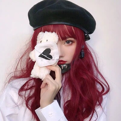 taobao agent Water dance red wig hood style long curly hair lolita European and American color big wave net red natural new hair cover