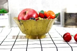 Đồng nguyên chất Châu Âu Châu Âu ren đồng lớn bát đĩa trái cây sử dụng Phương Tây sưu tầm hàng cũ đồng cũ Châu Âu hàng Mỹ