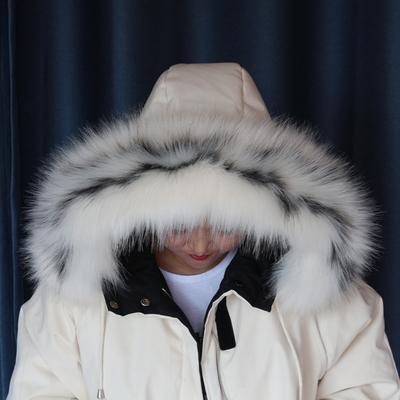 仿狐狸貉子毛毛领子帽条毛条皮草假毛领子羽绒服帽子毛领单买冬女