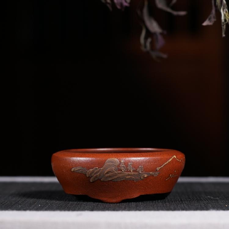 Tím cát chậu hoa boutique tím cát chậu hoa thịt micro hoa nồi cũ đối tượng antique sưu tầm đặc biệt cung cấp