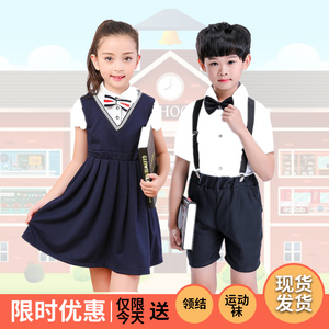 Hiệu suất của trẻ em điệp khúc hiệu suất quần áo mẫu giáo quần áo trường tiểu học đồng phục trường mùa hè cao đẳng gió