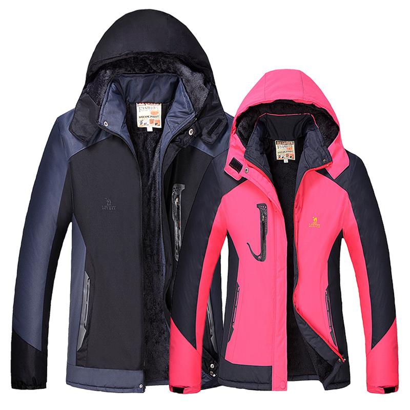 Mùa đông cộng với nhung dày vài mô hình tấn công áo khoác nam windproof không thấm nước ấm mùa đông câu cá leo núi overalls