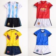 World Cup cha mẹ và con trẻ em jersey bé mùa hè quần áo trẻ em trong trẻ em lớn của bóng đá quần áo sinh viên cậu bé thể thao phù hợp với