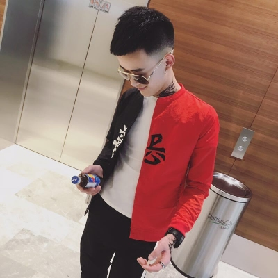 Net red với mùa hè ăn mặc thoáng khí kem chống nắng quần áo xã hội người xu hướng nam áo khoác tinh thần guy Slim đẹp trai áo khoác Áo khoác