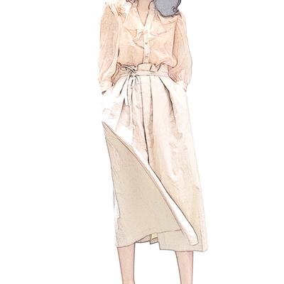 夏季新款 复古波点荷叶边V领衬衫灯笼袖上衣温柔风女装安娜家