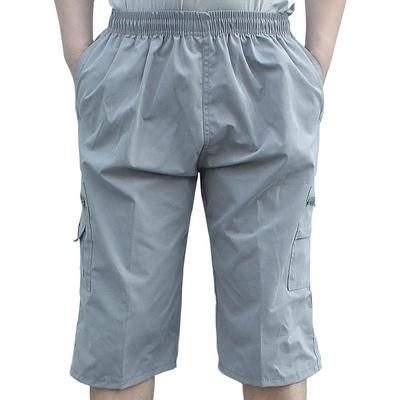 Bảy điểm quần nam mùa hè thường năm điểm của nam giới quần bãi biển mùa hè lỏng trung niên thể thao quần lớn thủy triều mỏng 3/4 Jeans