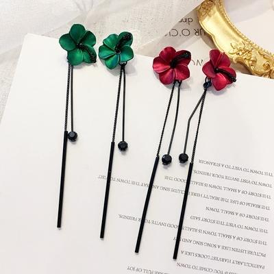 个性花朵少女心ins耳环超仙流苏耳钉女新款潮长款气质耳饰品