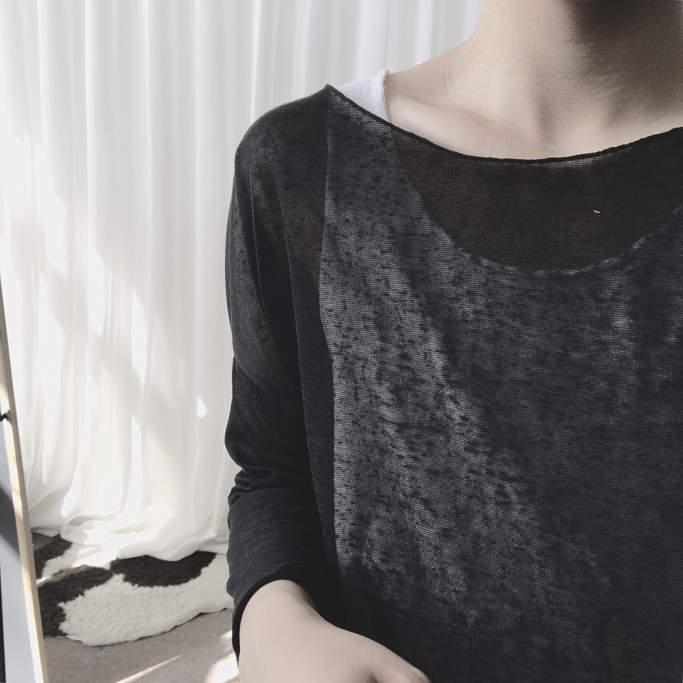 Trà và kem chống nắng Agu đầu đơn giản băng lụa lỏng áo