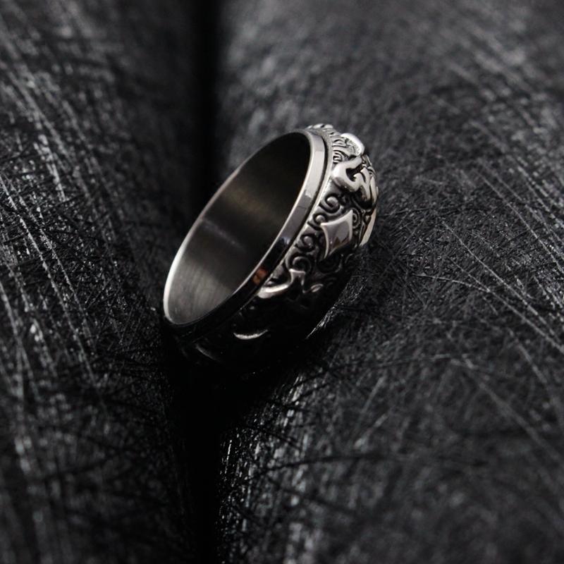 欧美朋克霸气个性男士钛钢戒指潮人简约配饰日韩复古单身指环饰品