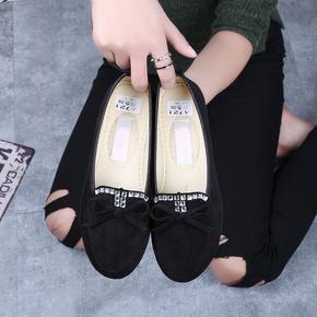 春秋韩版老北京布鞋豆豆鞋女单鞋