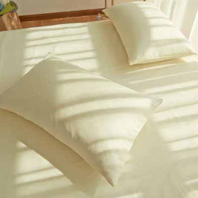纯棉纯色四件套被单床笠式1.5/1.8m床上用品简约全棉素色时尚套件