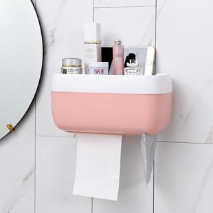免打孔卫生间纸巾盒厕所收纳盒