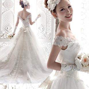 【 зазор 】 мечтать департамент супер корейский слово плечо Расположение перетащить хвост невеста свадьба платья оптовая торговля