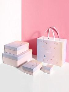 ..口红礼品盒合1支高档包装一只空管礼品盒创意新年礼物盒子少女