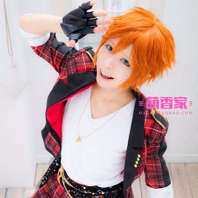 taobao agent Meng Xiangjia Idol Dream Festival Trickstar Star Subaru cosplay Anime Wig Orange Universal Short Hair