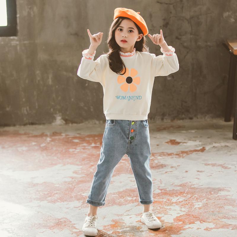 Quần áo trẻ em 2020 mùa xuân và mùa hè Cô gái mới quần jean phù hợp với 8 đứa trẻ lớn mùa xuân và mùa xuân xuân hè Mùa hè 10 tuổi quần áo mùa xuân và mùa hè 12 tuổi 1 - Khác