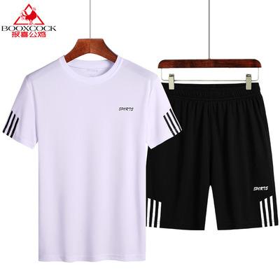【报喜公鸡】夏季男士休闲新款短袖套装