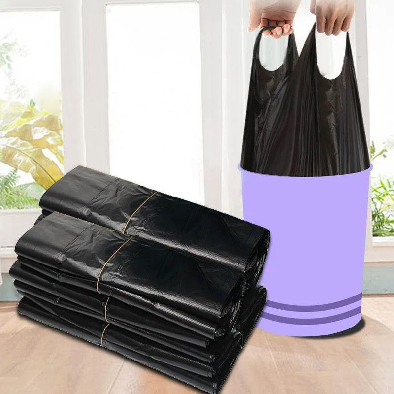 垃圾袋家用加厚手提式背心黑色厨房中大号