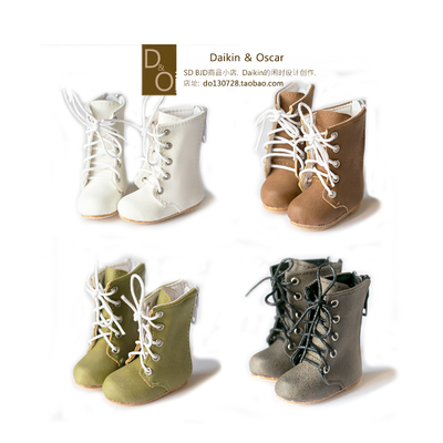 taobao agent DO spot bjd6 points doll shoes imda2.6 Martin boots card meat gem painting environment British retro lace-up boots