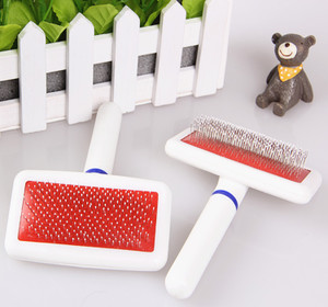 Trắng nhỏ kim lược con chó nhỏ vật nuôi chó lược mèo lược mở nút hình dạng làm sạch sản phẩm làm đẹp