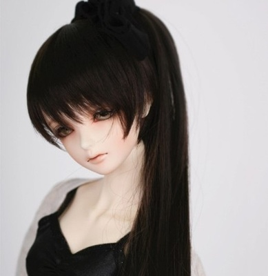 taobao agent 1/3 1/4BJD/SD doll fake hair 3 points 4 points double ponytail/single ponytail changeable initial sound wig-FA48
