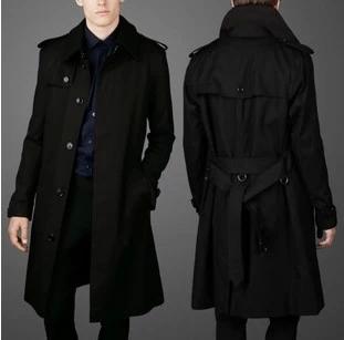 2017 kinh doanh mới giản dị đơn ngực Slim nam áo gió dài coat gió Anh