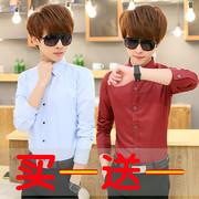 Mùa hè siêu mỏng áo sơ mi nam dài tay Slim Hàn Quốc phiên bản của xu hướng đẹp trai áo sơ mi nam mỏng áo sơ mi nam quần áo