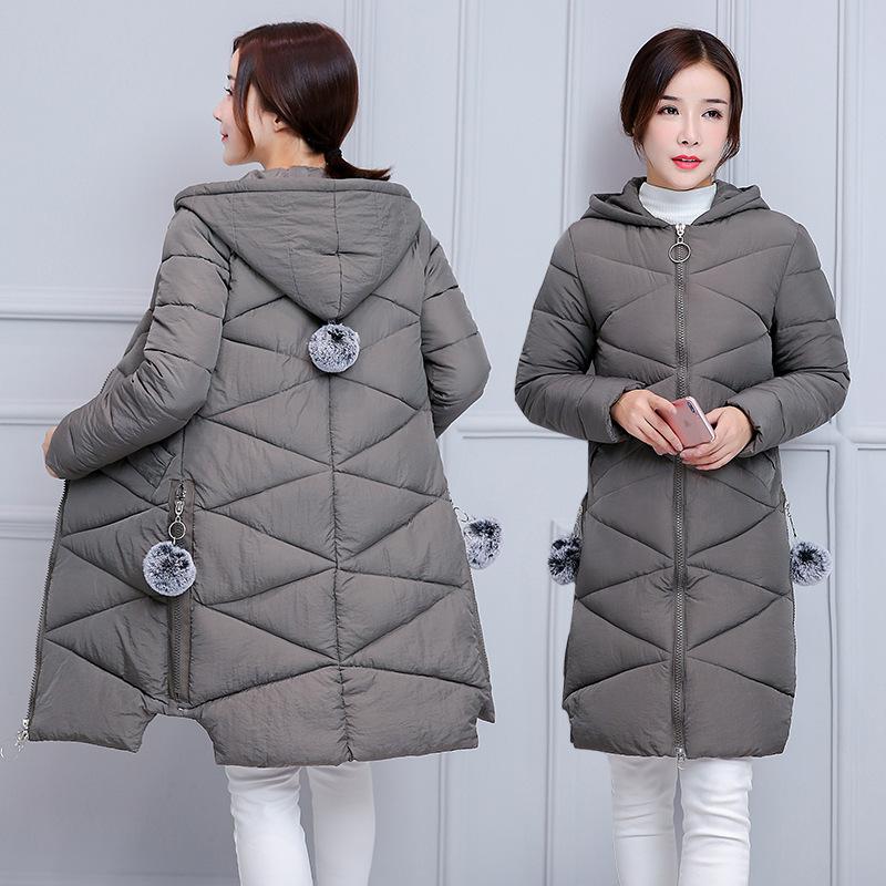 2018 mùa đông phụ nữ áo khoác dày chống mùa giải phóng mặt bằng phụ nữ bông của phụ nữ phần dài Hàn Quốc phiên bản của xuống bông độn áo khoác