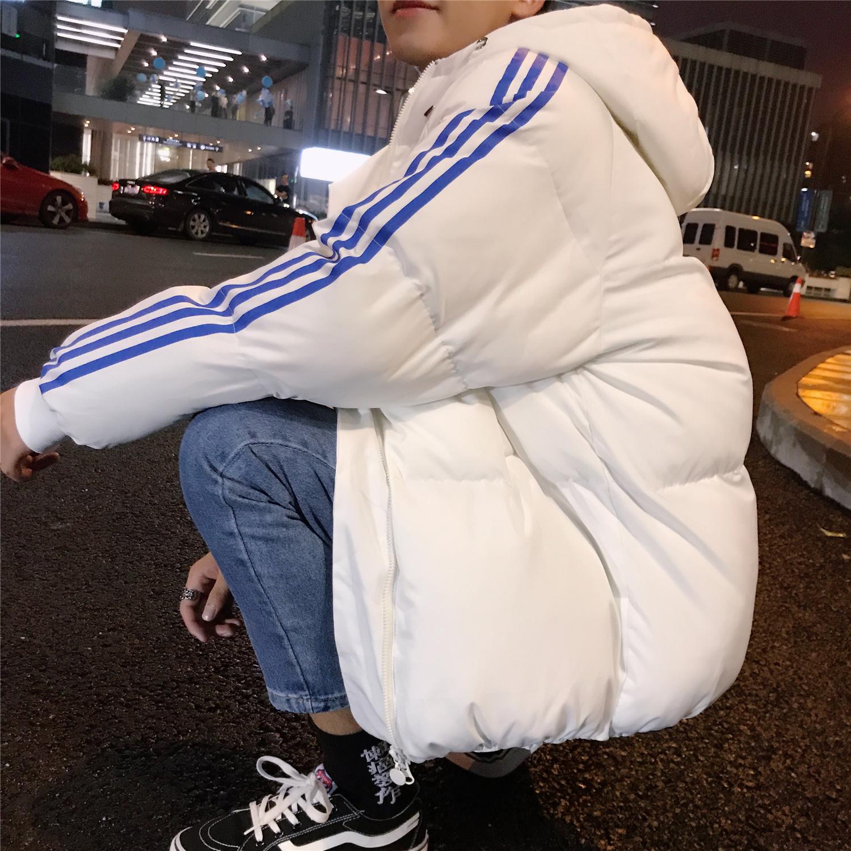 Mùa đông nam dài áo bông mùa đông áo vài bông quần áo bánh mì quần áo Harajuku Hàn Quốc phiên bản của xu hướng quần áo xuống