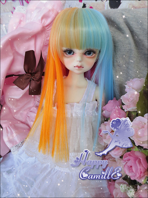 taobao agent BJD/SD 4 points 3 points wig hair/high temperature silk HT-dream straight hair seven colors 1/4,1/3