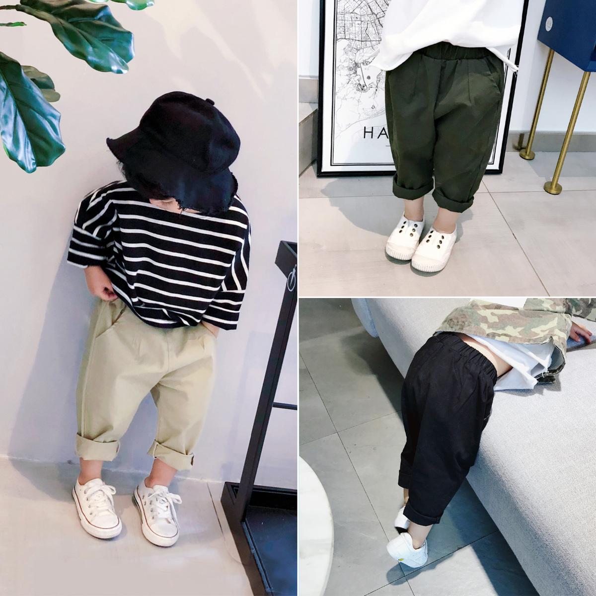 Streaky boy loose yếm nam mùa xuân 2018 mới của Hàn Quốc phiên bản của triều thời trang thoải mái quần tây giản dị