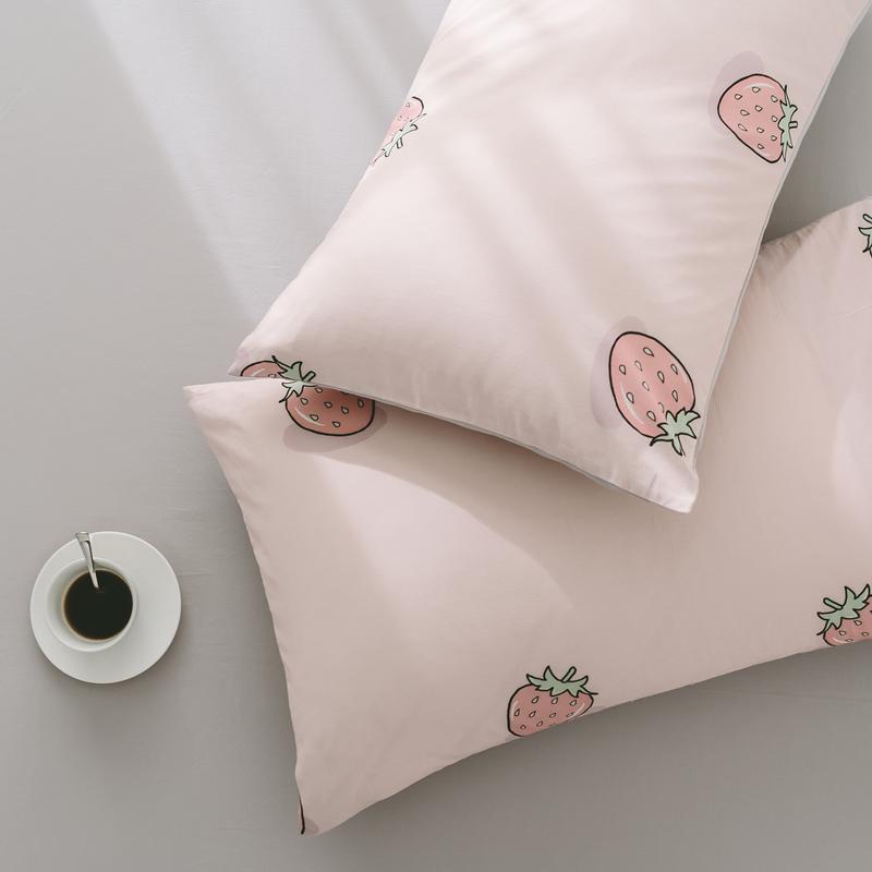 Ins Bắc Âu rửa bông áo gối đơn giản bông gối túi cotton sinh viên áo gối 48 * 74 cm một nạp