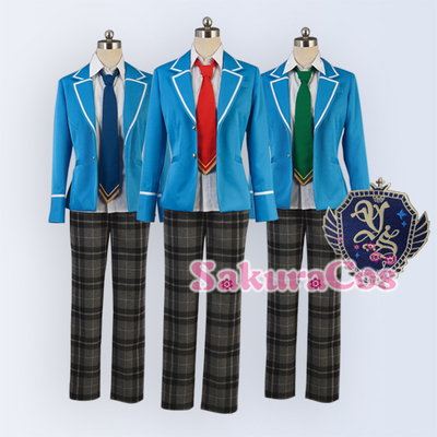 taobao agent Idol Fantasy Festival Ensemble Stars Uniform School Uniform Tricolor Tie Cosplay Costume