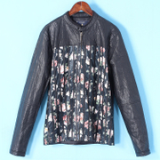 甩 quần áo của nam giới Jie loạt mùa xuân mới in sọc ba chiều da thường mỏng áo 2036