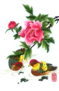 Nổi tiếng cổ thêu nghệ thuật thêu thêu diy kit người mới bắt đầu handmade sơn trang trí 鸳鸯 30 * 40 CM