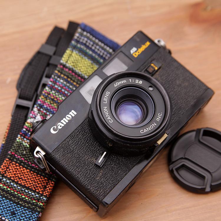 129 Gam Canon A35 máy ảnh cũ 135 phim máy phim cổ điển 40 2.8 ống kính rangefinder máy ảnh