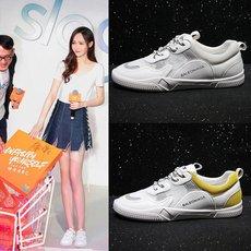 2018夏季新款低帮鞋女鞋平跟网纱系带休闲小白鞋 质量保证